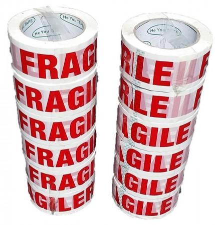 Fragile Tape 48x100 m 12 Rolls | Printed Tape