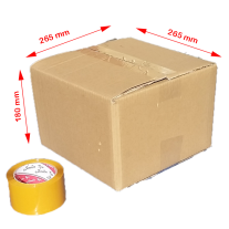 Cartons 265x265x180 mm (5-Ply) 100/Bundle cardboard boxes