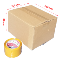 Cartons 260x205x148mm (5-Ply) 100/Bundle cardboard boxes