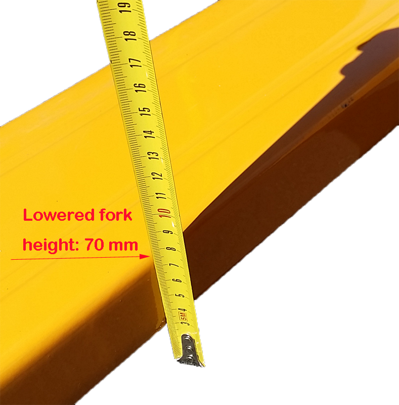Lowered fork height